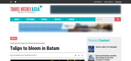 Tulips to bloom in Batam